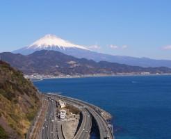 富士山 道路 高速道路 海